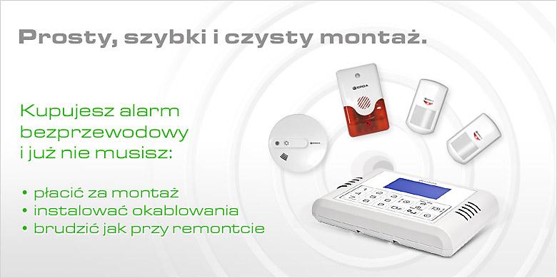 alarm bezprzewodowy gsm ERDA electronic - prosty montaż
