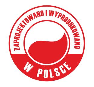 zaprojektowano i wyprodukowano w Polsce